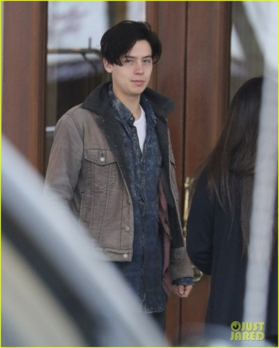 EXCLUSIVE: Cole Sprouse greets fans before heading to work on 'Riverdale' in Vancouver